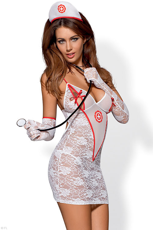 Lingerie - Obsessive House Call Nurse 5 Pce Costume