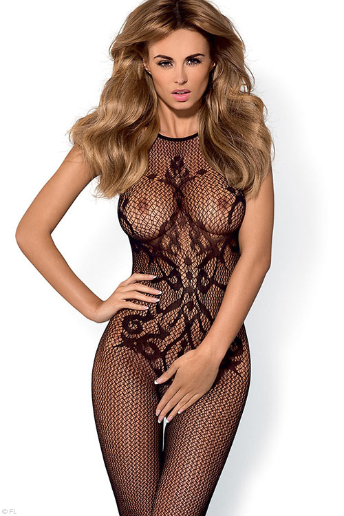 Lingerie - Obsessive Fishnet & Lace Bodystocking