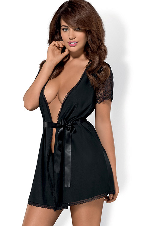 Lingerie - Obsessive Miamor Robe with Thong