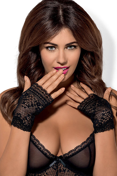 Lingerie - Obsessive Picantina Lace Fingerless Gloves