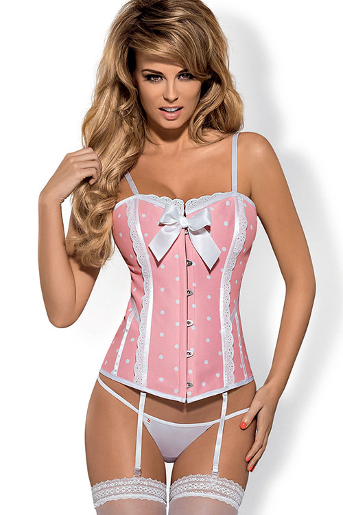 Lingerie - Obsessive Dottie Corset with Thong