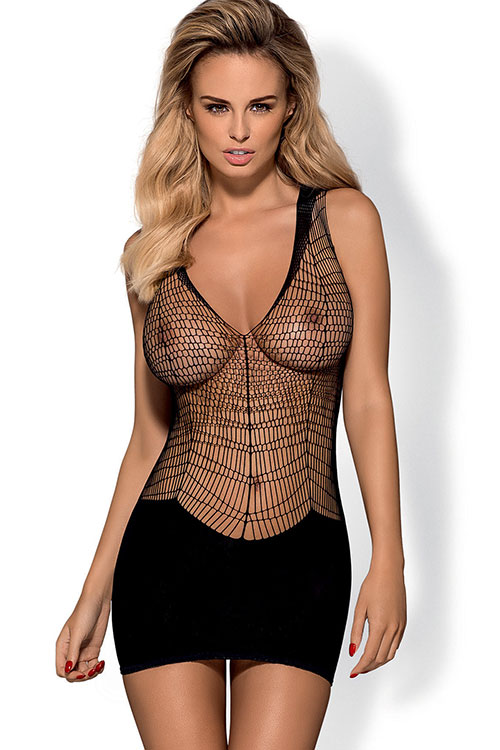 Lingerie - Obsessive Opaque & Open Net Bodystocking