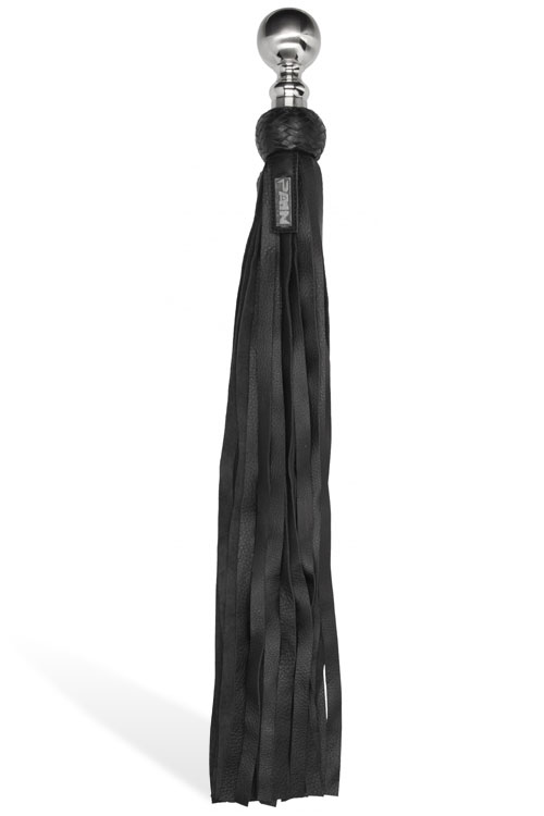 "26"" Leather Flogger With Metal Ball Handle"