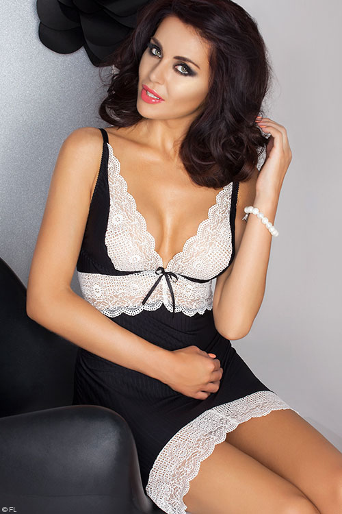 Lingerie - Passion Camille Chemise with Thong
