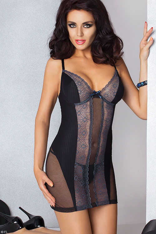 Lingerie - Passion Madlen Chemise with Thong