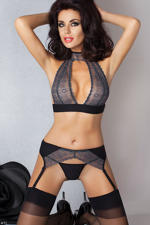 Passion Madlen Bra with Garter Belt & Thong