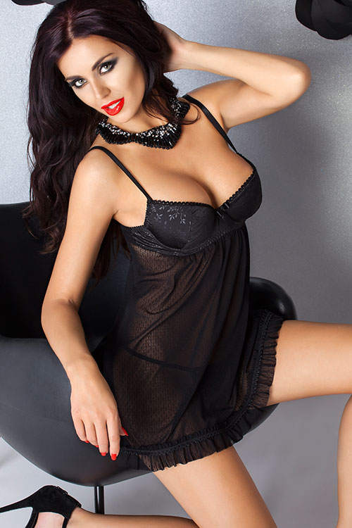 Lingerie - Passion Nevis Babydoll with Thong