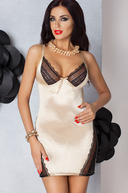 Lingerie - Passion Olimpia Chemise with G-String