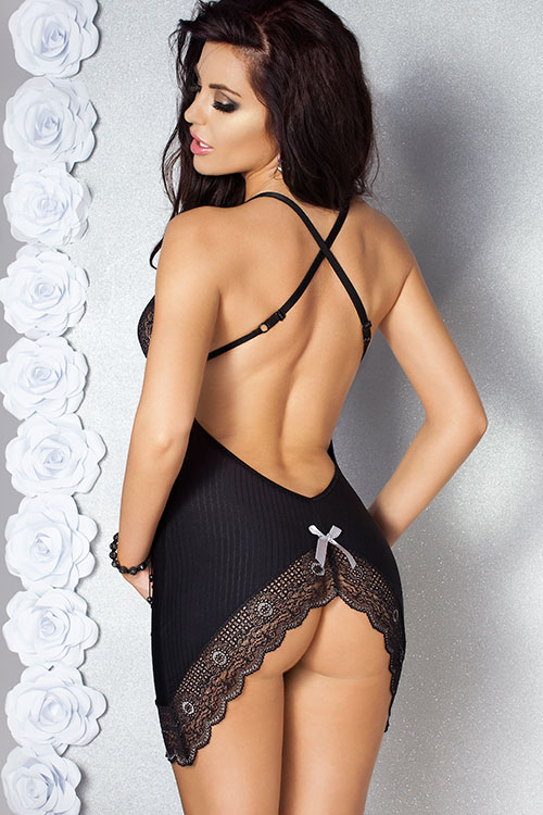 Lingerie - Passion Edith Chemise with Thong