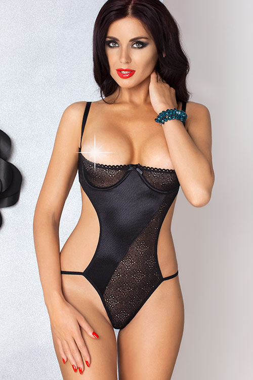 Lingerie - Passion Carolyn Open Cup Teddy