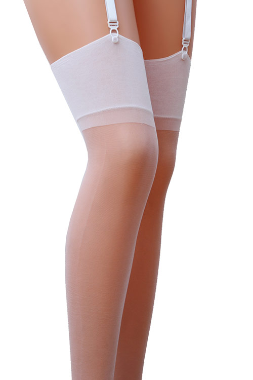 Silky White Sheer Thigh Highs