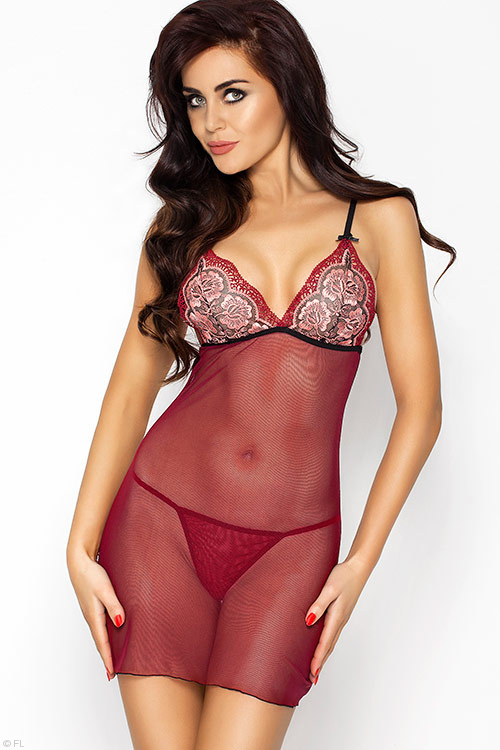 Lingerie - Passion Erotic Whitney Chemise with Thong