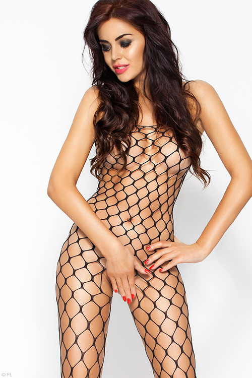 Lingerie - Passion Erotic Fencenet Bodystocking with Open Crotch
