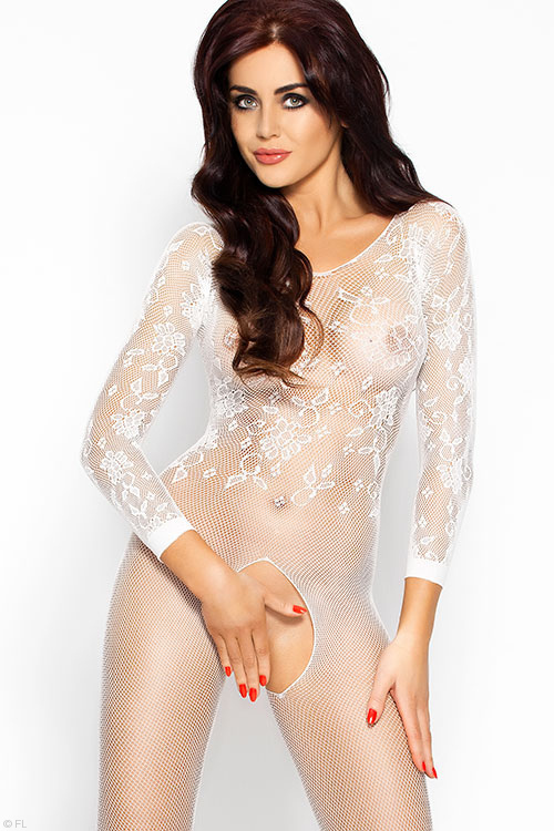 Lingerie - Passion Erotic Bodystocking with Open Crotch