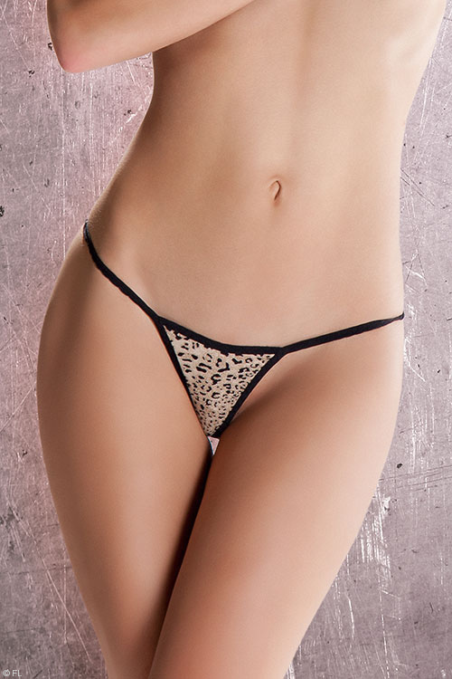 Lingerie - Passion Erotic Alexa Animal Print Thong