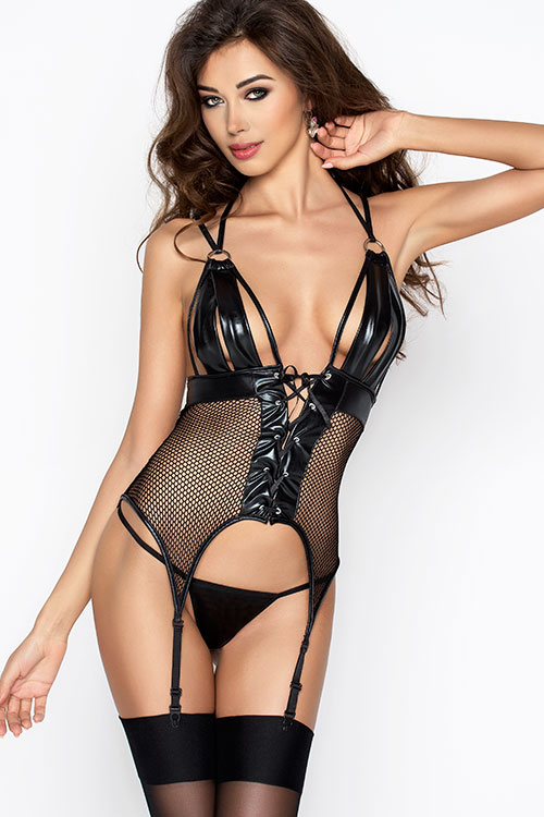 Lingerie - Passion Erotic Katriss Soft Fit Corset with Thong