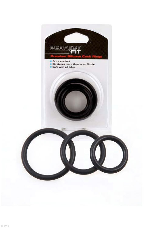 Perfect Fit 3 Pack Silicone Cock Rings - Mixed sizes