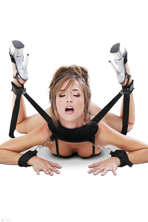 Fetish Position Master Bondage Harness with Cuffs