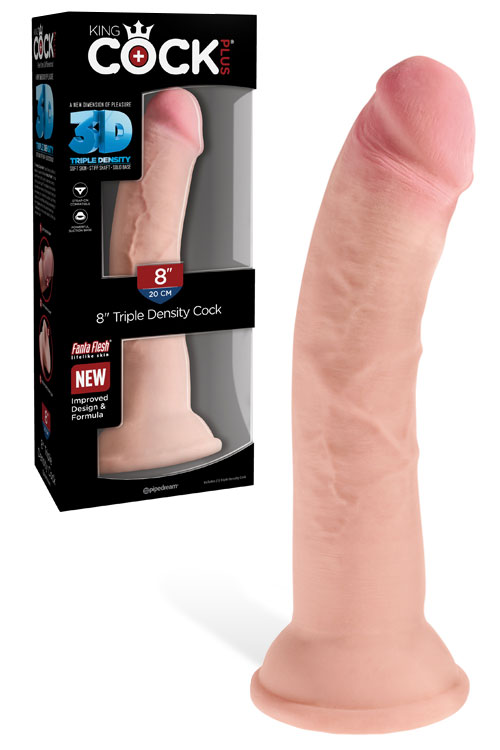 "King Cock Triple Density 8"" Dildo"