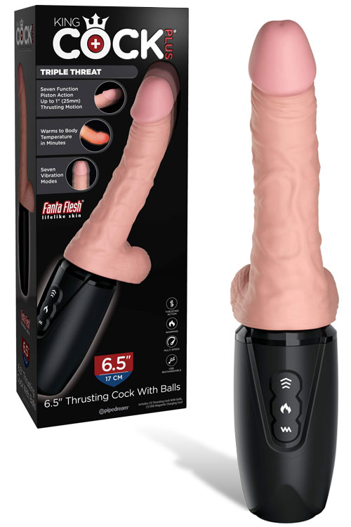 King Cock Thrusting, Heating & Vibrating Dildo