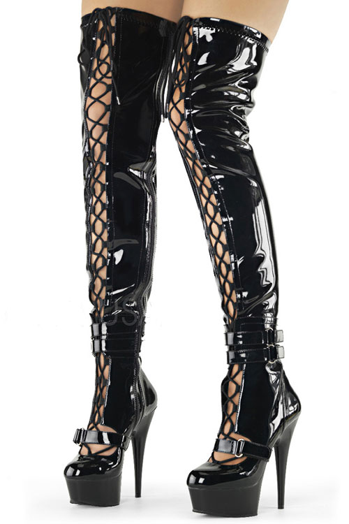 Footwear - Pleaser Ultra Shiny Thigh High 6