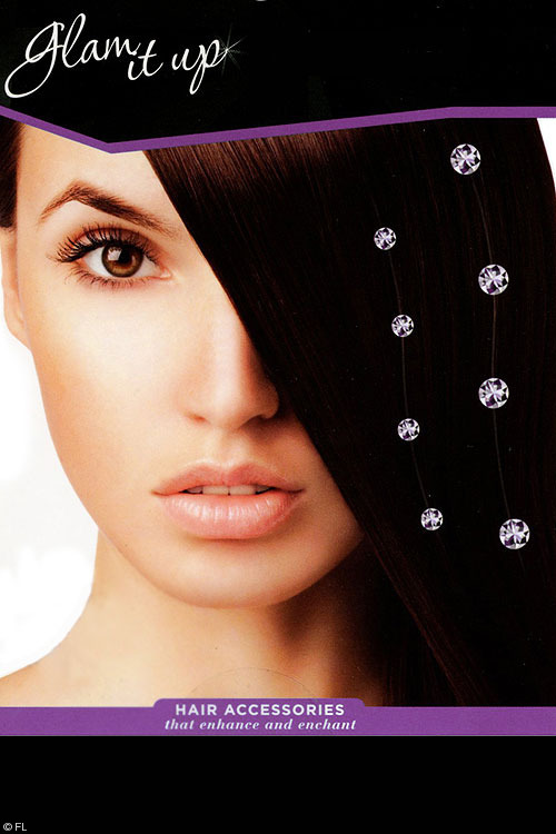"Lingerie - Pleasure Wigs 10"" Clip-In Crystal Hair Extension"