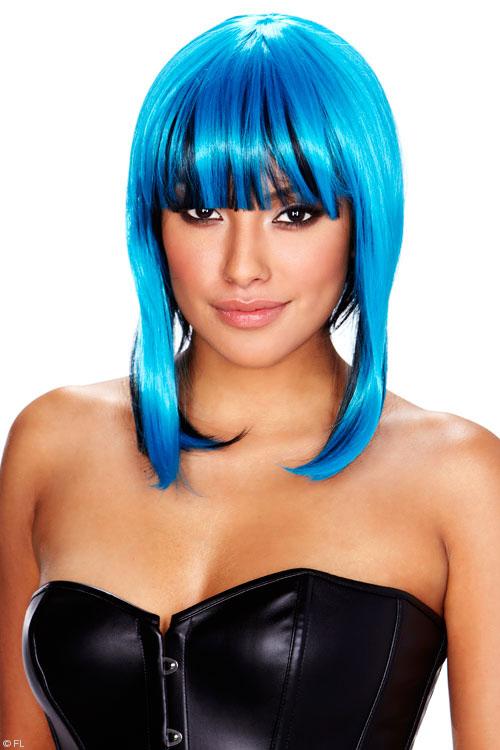 Lingerie - Pleasure Wigs Belladonna Wig - Blue/Black
