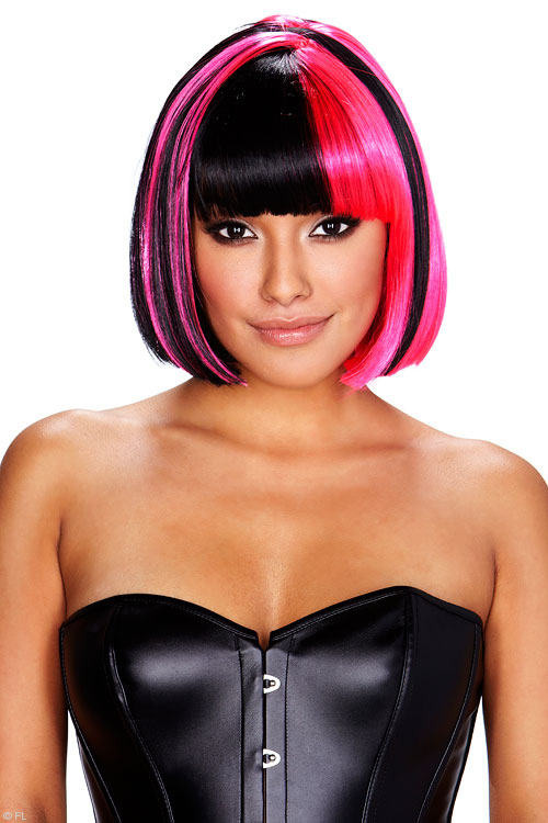 Lingerie - Pleasure Wigs Kitty Wig - Pink/Black