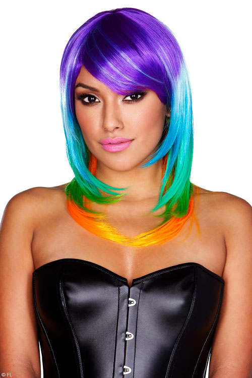 Lingerie - Pleasure Wigs Rainbow Wig