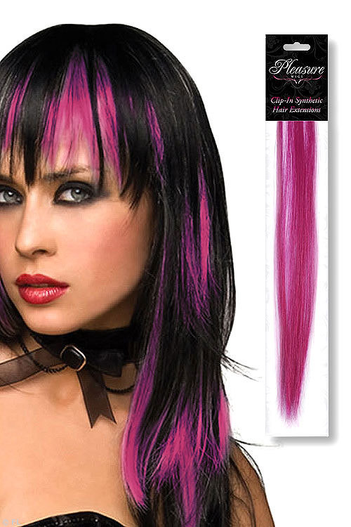 Pleasure Wigs Fuchsia Coloured Clip-In Synthetic Hair Extension