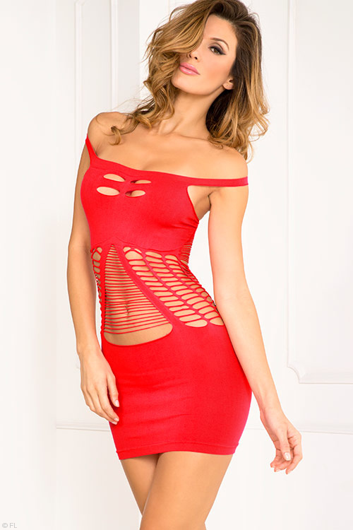 Lingerie - Rene Rofe Sassy Cut Out Bodystocking