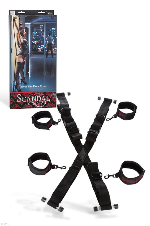 Over the Door Cross Restraints by California Exotic