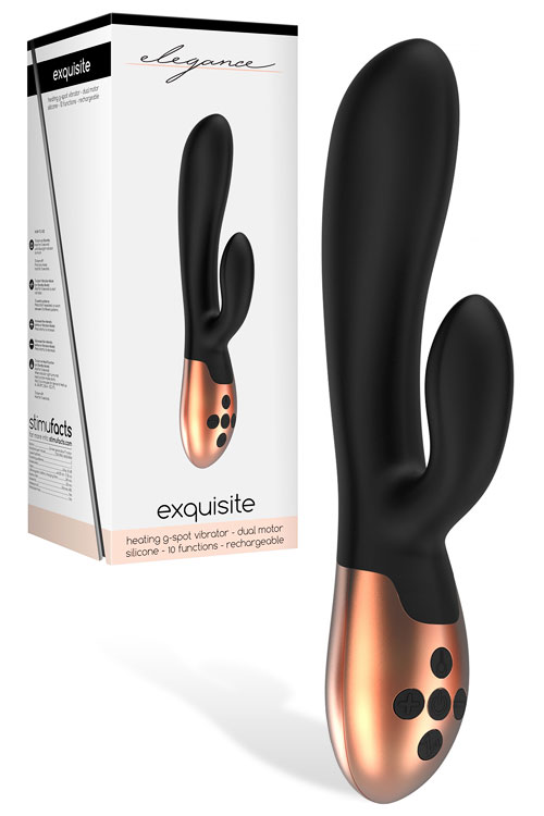 "7.9"" Silicone Rabbit Vibrator with Heating"