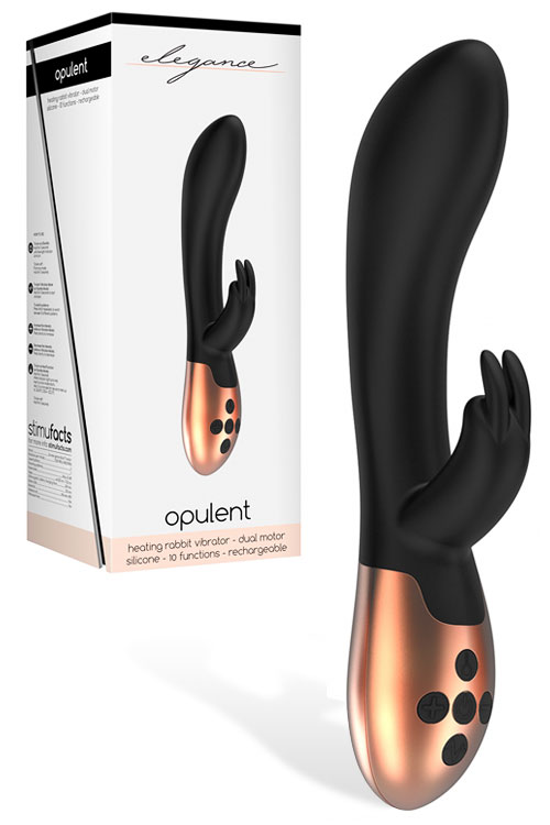 "8"" Silicone Rabbit Vibrator with Heating"