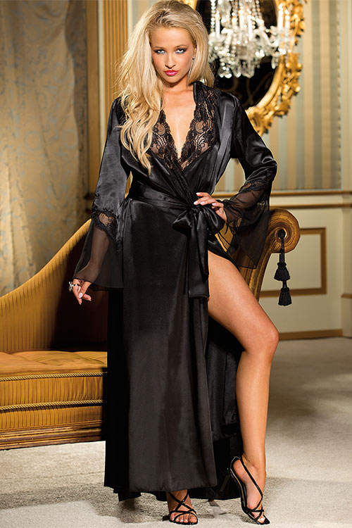 Lingerie - Shirley Of Hollywood Holllywood Glamour Long Robe