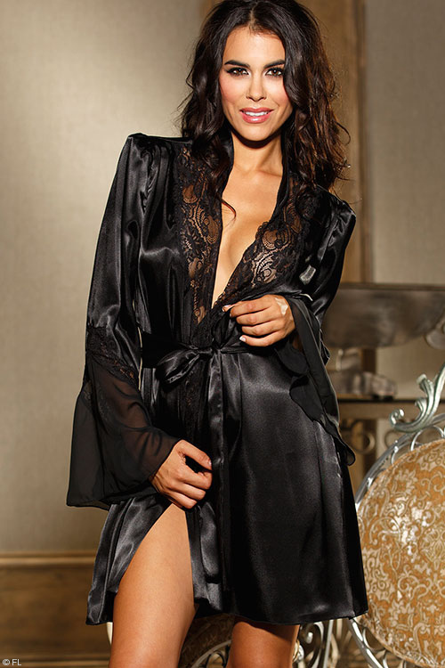 Lingerie - Shirley Of Hollywood Charmeuse Robe