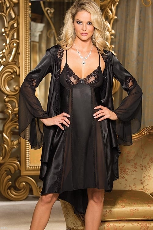 Lingerie - Shirley Of Hollywood Charmeuse Satin Gown