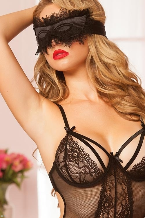 Lingerie - Seven Til Midnight Satin Eye Mask