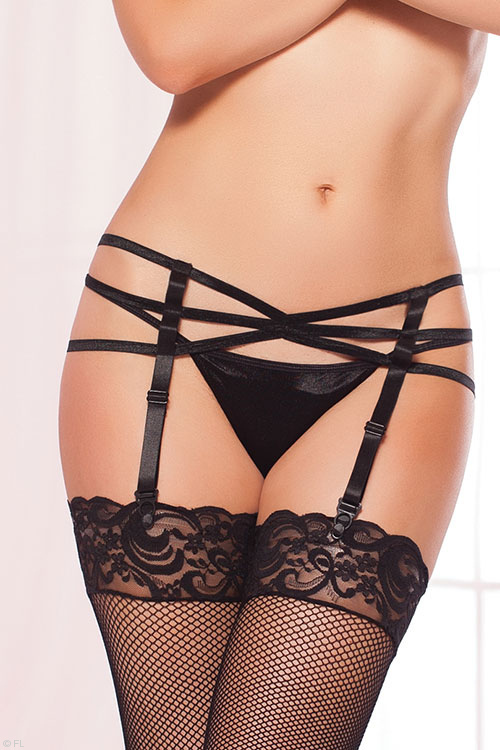 Lingerie - Seven Til Midnight Strappy Garter Belt