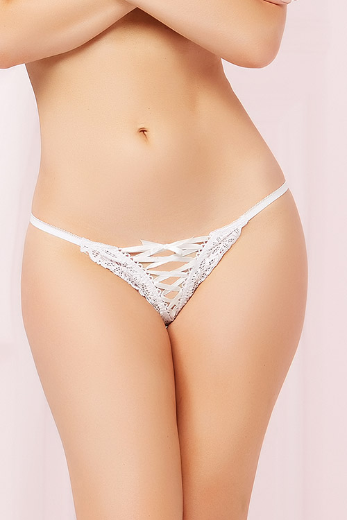 Lingerie - Seven Til Midnight Tropical Lace Thong